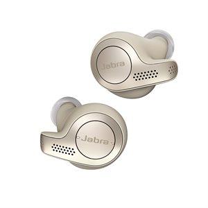 Jabra Elite 65t Bluetooth Earbuds, Gold / Beige