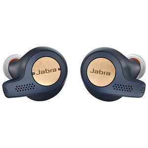 Jabra Elite Active 65t True Wireless Earbuds, Copper / Blue