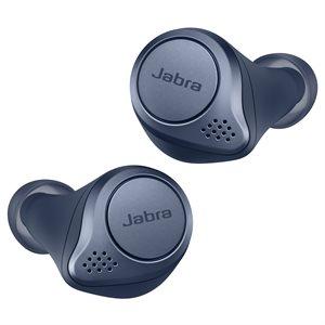 Jabra Elite Active 75t w / ANC & Wireless Charging - Blue