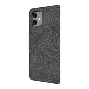 Axessorize LUXFolio case for iPhone XR / 11, Comet Black