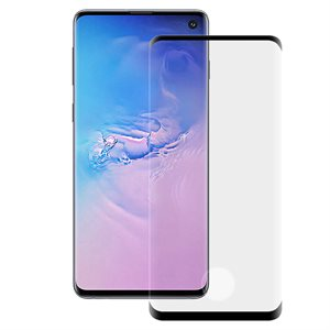 Axessorize Tempered Curved Glass Screen Protector for Samsung Galaxy S10, Clear