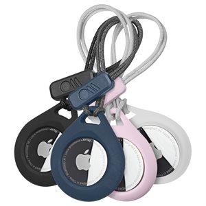 Case-Mate AirTag Tough Sport 4 Pack - Clear, Black, Navy, Blush