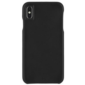 Case-Mate Barely There Leather Case for iPhone Xs Max, Black