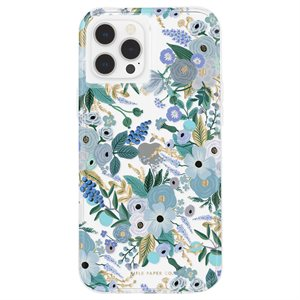 Case-Mate Rifle Paper Case for iPhone 12 Pro Max with Micropel - Garden Party Blue
