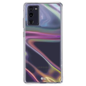 Case-Mate Soap Bubble Case for Samsung Galaxy S20 FE 5G with Micropel, Iridescent