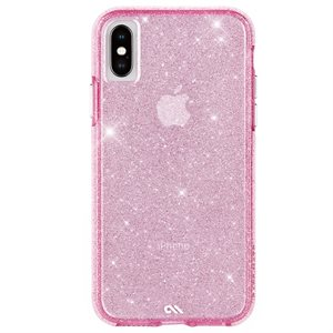 Case-Mate Sheer Crystal Case for iPhone X / Xs, Blush