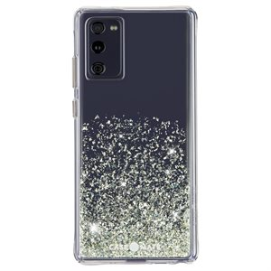 Case-Mate Twinkle Case for Samsung Galaxy S20 FE 5G with Micropel, Ombré Stardust