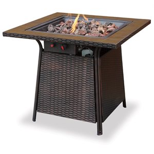 Endless Summer Propane Gas Firebowl with Tile Mantle