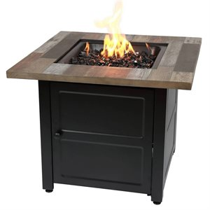 """Endless Summer The Cayden 30"""" Square Gas Fire Pit"""