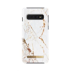 iDeal of Sweden Fashion Case Samsung Galaxy S10, Carrara Gold Marble