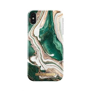 iDeal of Sweden Fashion Case for iPhone Xs Max, Golden Jade Marble