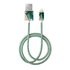 iDeal of Sweden Fashion 1M Lightning Cable, Golden Jade Marble