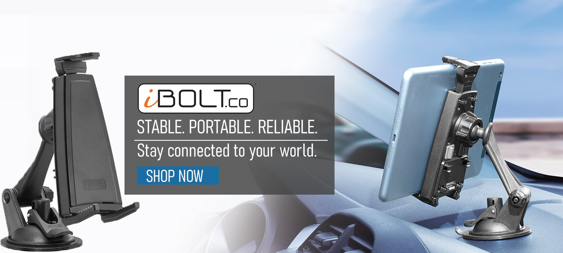 iBolt banner image of device mount for car